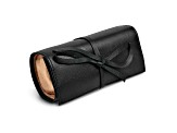 Black Leather Tie Jewelry Roll