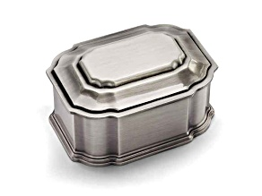 Pewter-Tone Finish Jewelry Box
