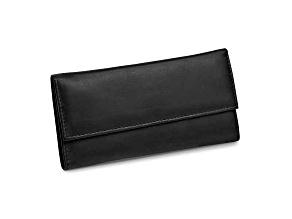 Black Leather Slim Jewelry Wallet