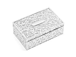 Silver-Plated Floral Rectangle Jewelry Box