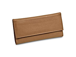 Tan Leather Slim Jewelry Wallet