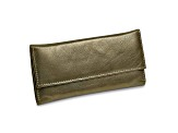 Pewter Leather Slim Jewelry Wallet
