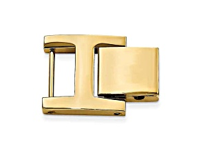 14mm X 14mm H-Clasp Gold-Tone Stainless Steel Fold-Over Extender