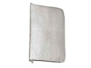 Silver Leatherette Anti-Tarnish Jewelry Organizer