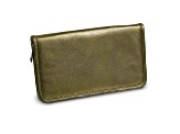 Pewter Leather Zip Around Jewelry Wallet
