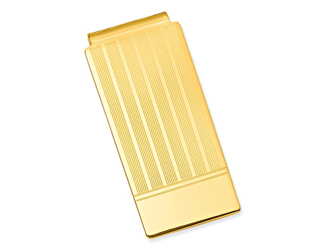 eee7a0524185 Gold-Plated Etched Lines Hinged Money Clip - WGQ646 | JTV.com