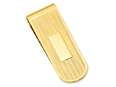 Gold-Plated Etched Lines Money Clip