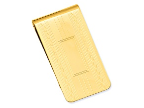 Gold-Plated Patterned Edge Money Clip