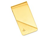 Gold-Plated Star Cut .001ct. Diamond Money Clip