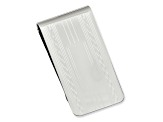 Rhodium-Plated Patterned Edge Money Clip
