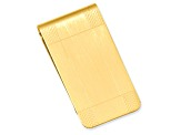 Gold-Plated Satin Patterned Corner Money Clip