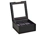 Stackable 6 Piece Watch Jewelry Tray With Lid Black By Wolf