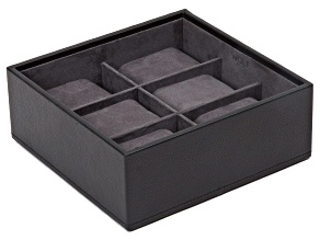 Stackable 6 Piece Watch Tray Black By Wolf