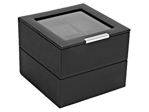 Stackable Watch Tray Set 2 X 6 Black