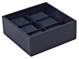 Stackable 6 Piece Watch Tray Navy By Wolf