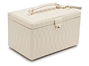 Caroline Large Jewelry Box Ivory By Wolf