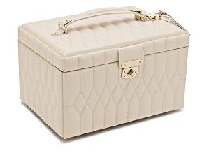 Caroline Medium Jewelry Box Ivory By Wolf