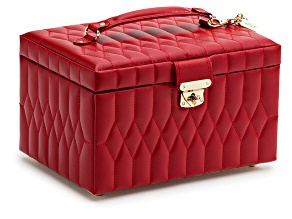 Caroline Medium Jewelry Box Red By Wolf
