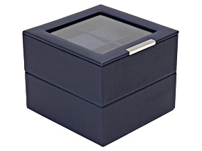 Stackable Watch Tray Set 2 X 6 Navy By Wolf