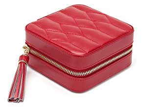 Caroline Zip Jewelry Case Red By Wolf