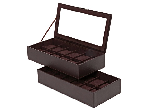 Stackable Watch Tray Set 2 X 1 Brown By Wolf