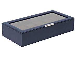 Stackable 12 Piece Watch Tray With Lid Navy By Wolf