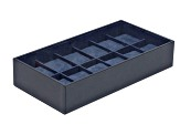 Stackable 12 Piece Watch Tray Navy By Wolf