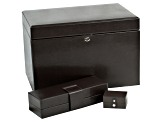 London Large Jewelry Box Cocoa By Wolf