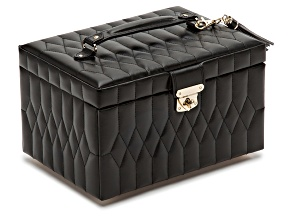 Caroline Medium Jewelry Box Black By Wolf