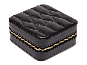 Caroline Zip Jewelry Case Black By Wolf