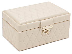 Caroline Small Jewelry Box Ivory By Wolf