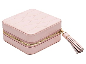 Caroline Zip Jewelry Case Rose Quartz By Wolf