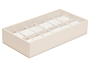 Stackable 12 Piece Watch Tray Cream By Wolf