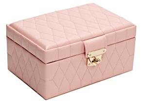 Caroline Small Jewelry Box Rose Quartz By Wolf
