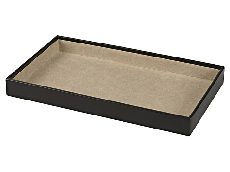 Vault 1.5 inch Deep Jewelry Tray Black By Wolf