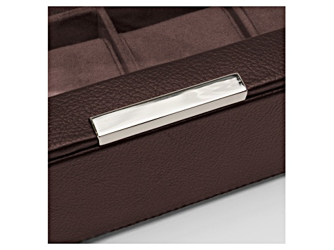 Stackable Watch Tray Set 2 X 6 inches Brown By Wolf