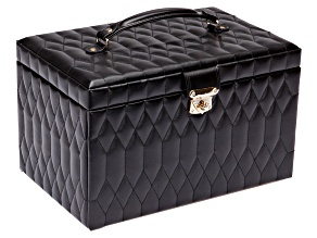 Caroline Extra Large Jewelry Box Black By Wolf