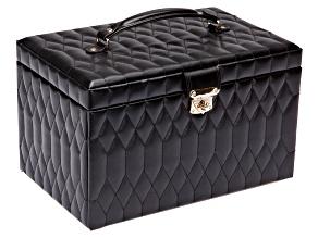Caroline Extra Large Jewelry Box Black By Wolf