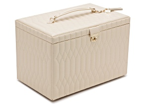 Caroline Extra Large Jewelry Box Ivory By Wolf
