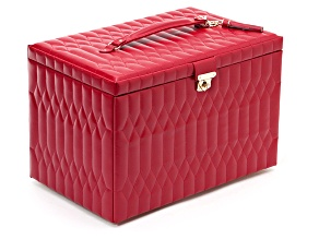Caroline Extra Large Jewelry Box Red By Wolf