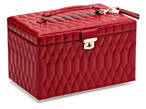 Caroline Large Jewelry Box Red By Wolf