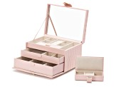 Caroline Medium Jewelry Box Rose Quartz By Wolf
