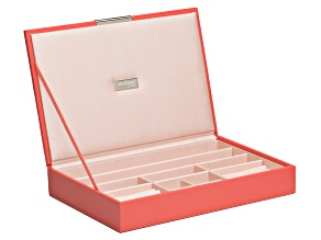 Stackables Medium Jewelry Tray With Lid Coral By Wolf