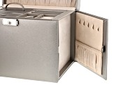 Heritage Large Pewter Gray Jewelry Box By Wolf