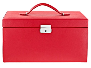 Heritage Extra Large Red Jewelry Box By Wolf