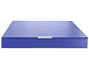 Heritage Stackables Large Tray with Lid Blue by Wolf
