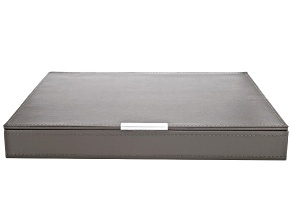 Heritage Stackables Large Tray with Lid Dark Gray by Wolf