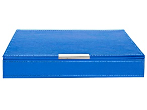 Heritage Stackables Medium Tray with Lid Blue by Wolf
