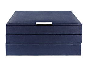 Stackables Medium Jewelry Tray Set Navy by Wolf