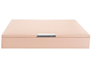 Stackables Medium Jewelry Tray with Lid Blush by Wolf